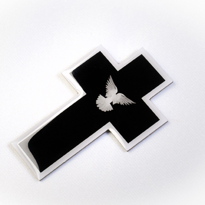 black mourning cross