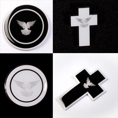 Mourning Cross Bereavement Pins